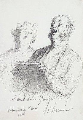 Honoré Daumier: Zwei Sänger (Deux Chanteurs)