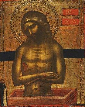 Jacobello di Bonomo: Christus am Grab mit einem dominikanischen Mönch