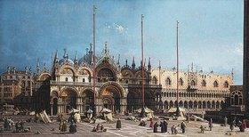 Canaletto (Giovanni Antonio Canal): Markuskirche und Dogenpalast, Venedig