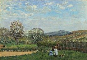 Alfred Sisley: Spielende Kinder auf einer Wiese (Enfants Jouant dans la Prairie)