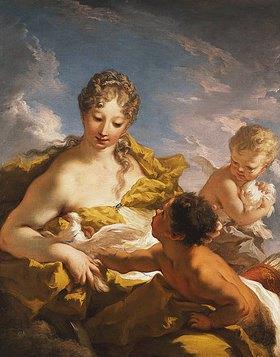 Giovanni Antonio Pellegrini: Venus, Armor und ein Faun. Zwischen