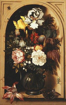 Balthasar van der Ast: Blumenstrauß in einer Nische