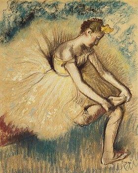 Edgar Degas: Tänzerin beim Anziehen ihrer Schuhe (Danseuse Attachant sa Chaussure)
