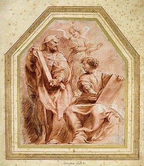 Peter Paul Rubens: Jeremia diktiert Baruch, dem Sohn Nerias, die Worte Gottes (Jeremia 36,4)