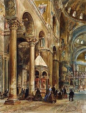 Rudolf von Alt: Innenansicht von San Marco, Venedig