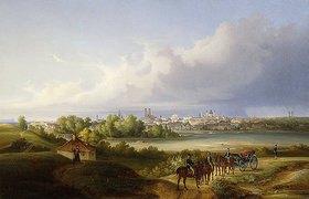 Eugen Adam: Ansicht von München mit der Isar