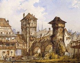 Angelo Quaglio: Ansicht von Nürnberg