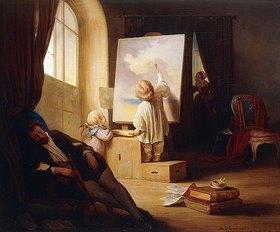 Joseph Danhauser: Der schlafende Maler