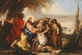 Giovanni Domenico Tiepolo: Jesus Christus heilt einen Blinden