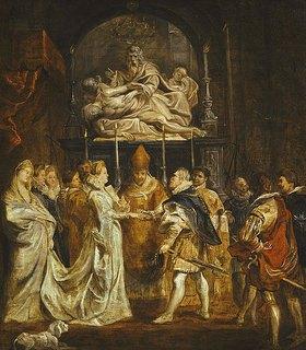 Peter Paul Rubens: Die Hochzeit von Maria de' Medici mit Heinrich IV per Prokuration am 5. Oktober 1600. (vgl. Bild 16409)