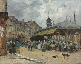 Eugène Boudin: Markt in Trouville
