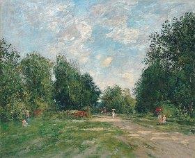Eugène Boudin: Der Park Cordier in Trouville