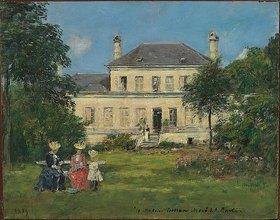 Eugène Boudin: Haus und Garten des Malers Braquaval
