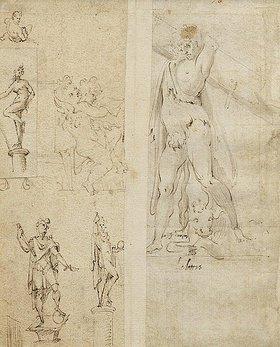 Giuseppe Cesari: Studienblatt mit Ornamenten - Verso