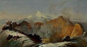 Johann Moritz Rugendas: Der Krater des Vulkans Colima