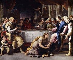 Luca (Fa Presto) Giordano: Fußwaschung der Maria Magdalena
