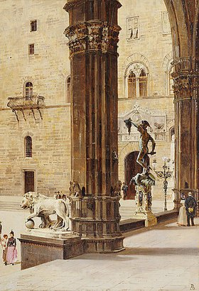 Antonietta Brandeis: La Loggia dei Lanzi, Florenz