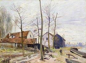 Alfred Sisley: Die Mühlen von Moret bei Sonnenaufgang (Les Moulins de Moret, au Lever du Soleil)
