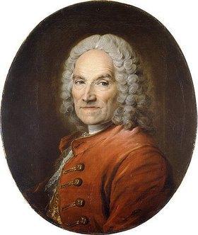Louis Tocqué: Bildnis von Jean-Louis Lemoyne (1665-1755) in einer roten Jacke