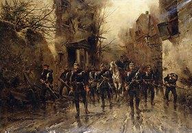 Hermanus Willem Koekkoek: Die zweite kaiserlich-preußische Fußgarde erreicht Paris