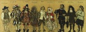 Edouard Vuillard: Kostümentwurf für neun Personen für 'La Coupe Enchantée' von Jean de la Fontaine