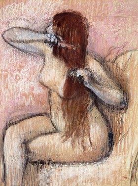 Edgar Degas: Sitzender Akt, sich kämmend (Femme nu assise, se coiffant)
