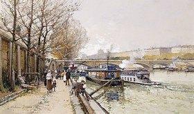 Eugene Galien-Laloue: Kähne auf der Seine