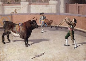 Spanisch: Stierkampfszene