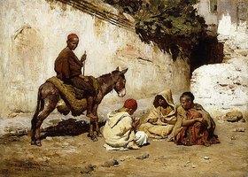Frederick Arthur Bridgman: Arabische Kinder beim Kartenspiel