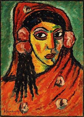 Alexej von Jawlensky: Spanierin mit rotem Schal
