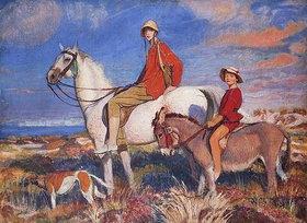 George Spencer Watson: Hilda und Mary in Studland Bay, Dorset