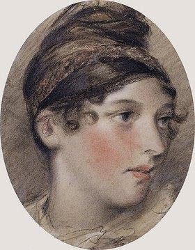 John Constable: Studie eines Frauenkopfes im Profil