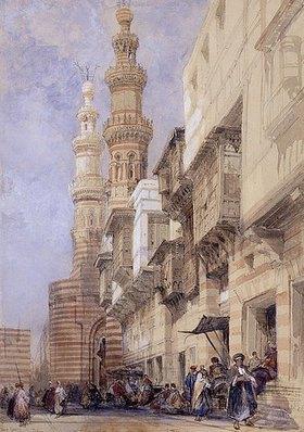 David Roberts: Straßenszene in Kairo