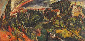 Chaim Soutine: Regenbogen in Ceret (L'arc en ciel, Ceret)