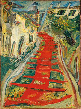 Chaim Soutine: Die Rote Treppe in Cagnes (L'escalier rouge à Cagnes)