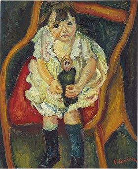 Chaim Soutine: Kleines Mädchen mit Puppe (La petite fille à la poupée)