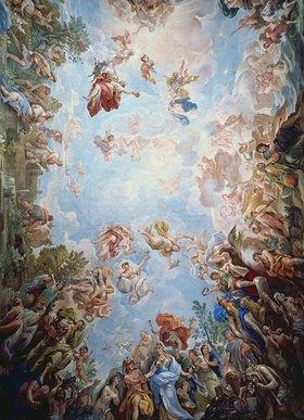 Luca (Fa Presto) Giordano: Gewölbefresko im Palazzo Medici Riccardi in Florenz