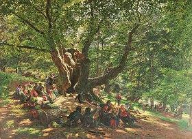 Edmund George Warren: Robin Hood und seine Gefolgsleute im Sherwood Forest