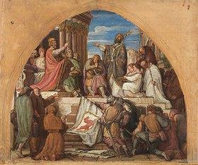 Alfred Rethel: Die Taufe Wittekinds