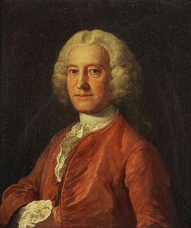 William Hogarth: Brustbild von Samuel Martin in einer roten Jacke.  Um 1763 (Samuel Martin war eine sehr enger Freund des Künstlers.)
