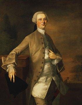 Thomas Gainsborough: Dreiviertelportrait von David Garrick in einer braunen Jacke und Reiterhosen