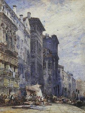William Callow: Der Marktplatz in Coburg