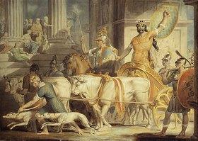 Edward Dayes: Lykurg kommt nach Athen und Theseus Ankunft in Athen