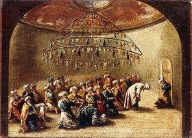 Giovanni Antonio Guardi: Türkische Betende in einer Moschee