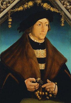 Hans Wertinger: Portrait des Pfalzgrafen Georg von Wittelsbach, Bischop von Speyer