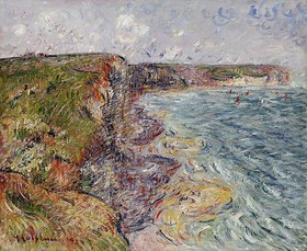 Gustave Loiseau: Segelboote bei Falaises, Yport