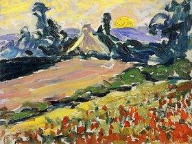 Henri Edmond Cross: Landschaft bei Sonnenuntergang (Paysage au Coucher du Soleil)