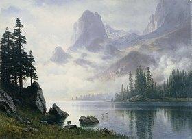 Albert Bierstadt: Berg im Nebel