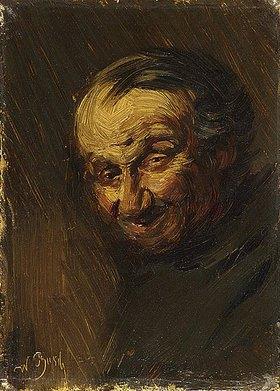 Wilhelm Busch: Das Knochenmännchen (Kopf eines alten Mannes)