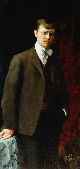 Ilja Efimowitsch Repin: Porträt eines Mannes, wohl Ivan Georgievich Drozdov (1880-1939)
